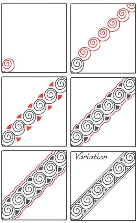 zentangle rope pattern snails steps rope or line based tangle steps zentangle