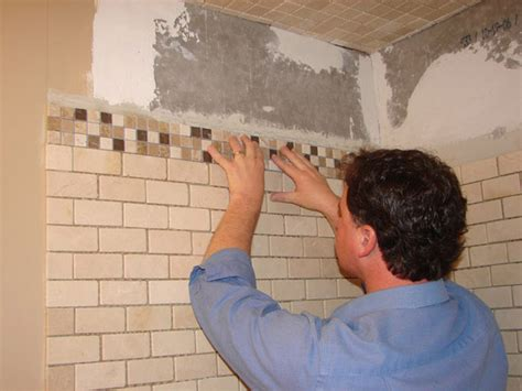 Wall Tile Installation How To Install Tile In A Bathroom Shower How Tos Diy