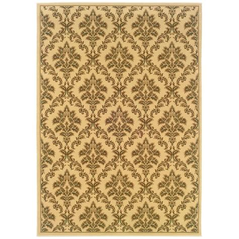 Natco Rugs by Natco Kurdamir Damask Ivory 5 Ft 3 In X 7 Ft 7 In Area