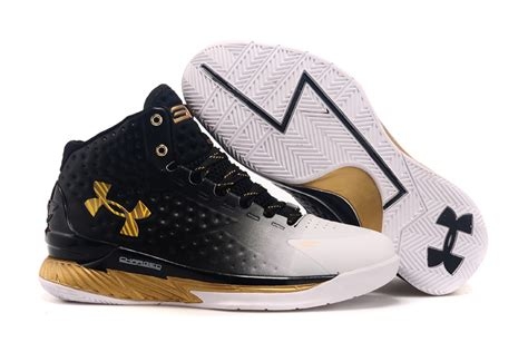 Sepatu Basket Curry 1 Mvp Low Black White Gold curry 1 low birthday mvp shoes outlet