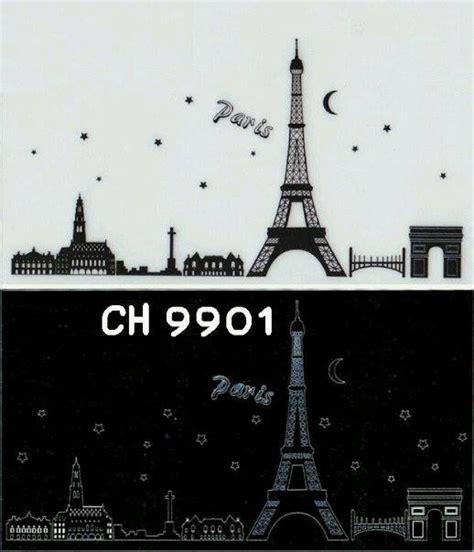 Wallsticker Uk50x70 Wall Sticker Black Eiffel stiker dinding stiker dinding murah