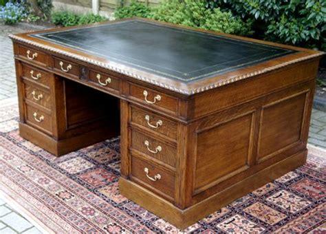 Large English Antique Oak Partners Desk 221803 Antique Office Desks For Sale