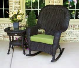 black wicker rocking chair outdoor simple outdoor