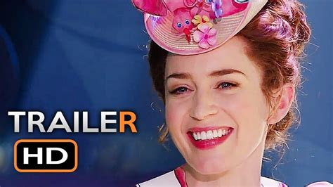 emily blunt trailer mary poppins returns official trailer 2 2018 emily blunt
