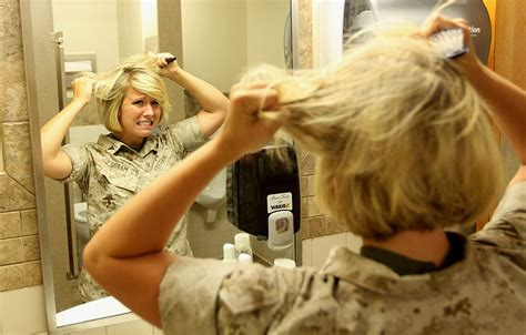 order on haircuts usmc hair today gone tomorrow marine corps sets new female