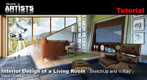 sketchup tutorial room design interior design of a living room sketchup and v ray