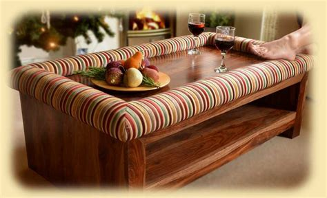 padable coffee table footrests