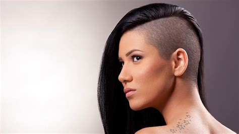 half trend 5 half shaved hairstyles that are edgy and on trend l