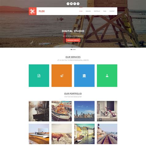 html5 photo gallery template free template 406 flex