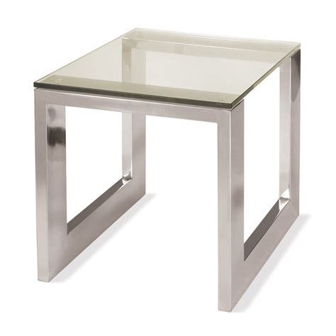 Steel End Table by Buy Villiers Oslo Side Table Mirrored Stainless Steel
