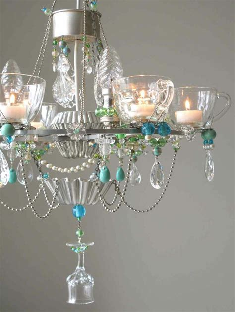 Teacup Chandelier Diy Great Use For Punch Cups And Candlier Chandlier Repurposing Cups