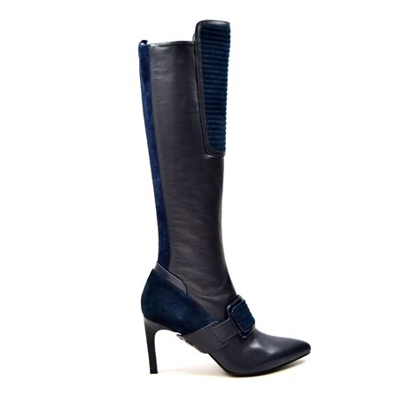 solemani s lucky navy leather narrow calf