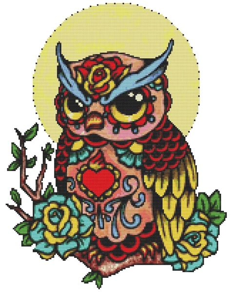 tattoo cross stitch kit 127 best etsy images on pinterest punto croce cross
