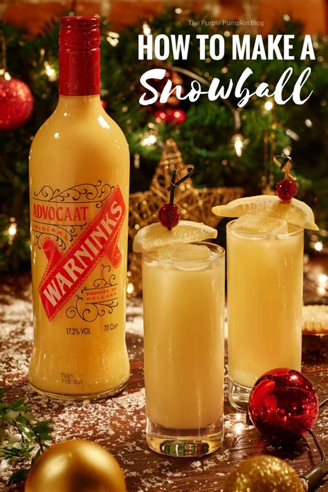 snowball drink  classic christmas cocktail