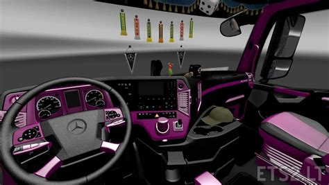 purple jeep interior mercedes actros mp4 black purple interior ets 2 mods