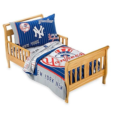 new york yankees bedding new york yankees 4 piece toddler bedding by the major league baseball bed bath beyond