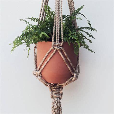 Macrame Knots Plant Hangers - macrame plant hanger the flat knot in jute by koala