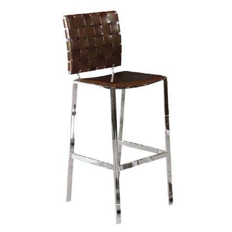 Leather Weave Bar Stools by Weave Bar Stool Brown