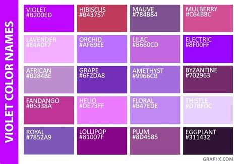 colors make purple color palette names i peacock color palette names