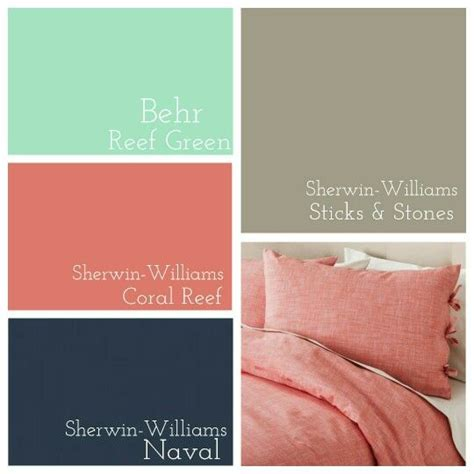 coral paint colors master bedroom behr reef green 187 sherwin williams coral