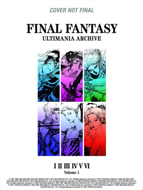 final fantasy ultimania archive dark horse plans final fantasy art book featuring yoshitaka amano animation magazine