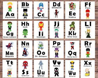 Book Toys Flash Card alphabet cards etsy