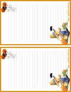 Halloween Letter Templates Free Halloween Stationary Letterhead 2