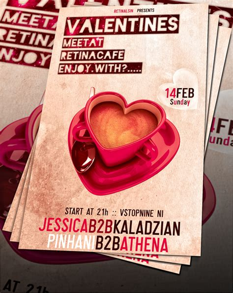 valentines flyer templates free valentines day flyer psd by retinathemes on deviantart