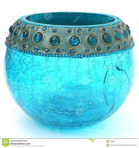 Turqoise L by Crackled Turquoise Blue Votive Stock Image Image 100629
