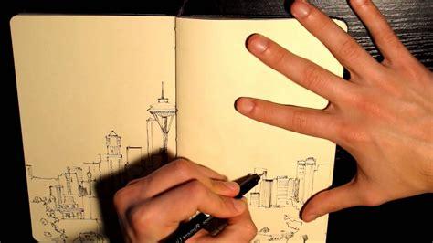 sketchbook note 3 tutorial seattle sketch with watercolor