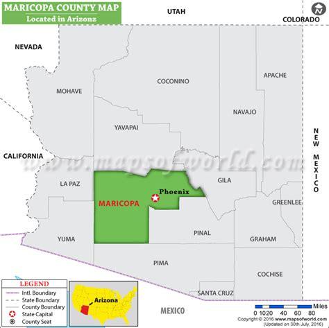 map of usa showing arizona maricopa county map arizona