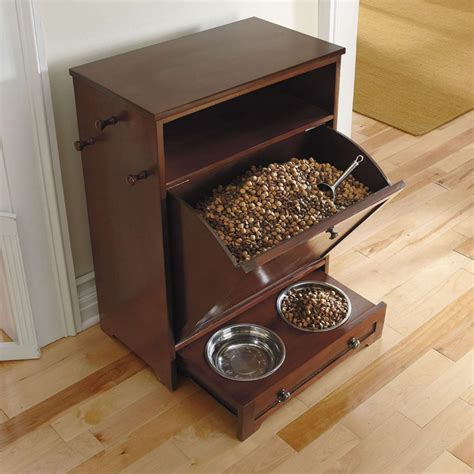dog feeding station cabinet storage furniture feeders and toy organizing solutions