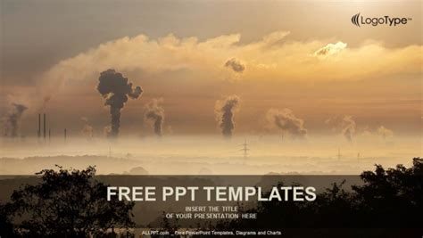 Air Pollution Ppt Templates Free Black Smoke From Smoke Stack Powerpoint Templates