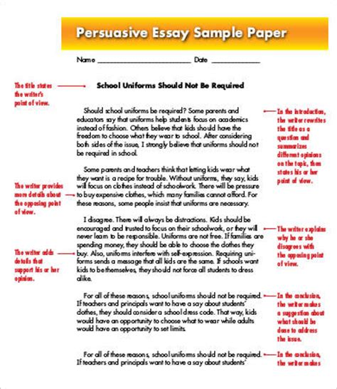 Argumentative Essay Exle Middle School by Sle Essays Middle School