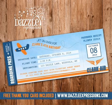 Free Card Templates For Passing Gas by Free Printable Airline Ticket Invitation Orderecigsjuice