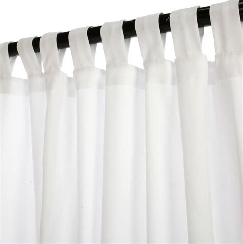 White Tab Top Curtains White Linen Tab Top Curtains Home Design Ideas