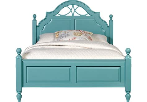 blue beds cindy crawford home seaside blue green 3 pc queen low