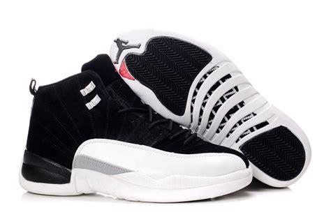 comfortable air comfortable air jordan 12 suede black white shoes aj246