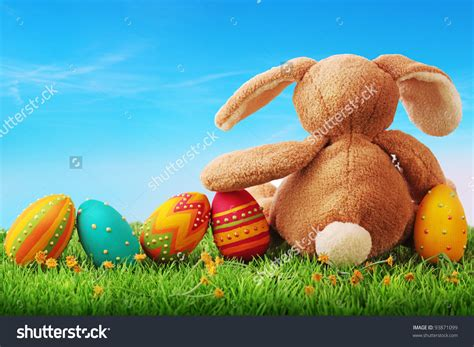 colorful easter eggs colorful easter eggs in grass happy easter 2018