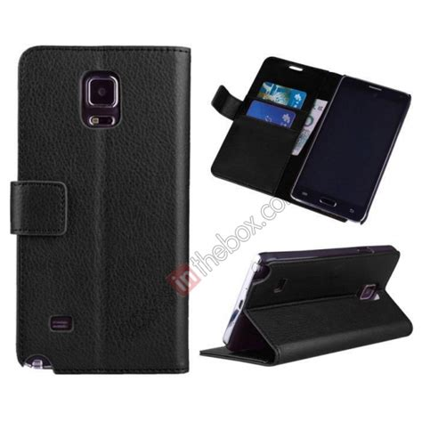 Casing Samsung G318 Black High Quality high quality lychee wallet flip leather with stand for samsung galaxy note 4 black 26695