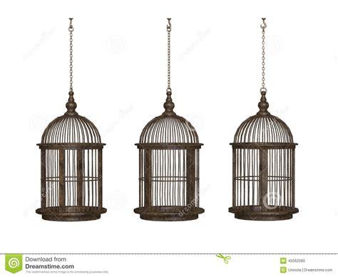 gabbie uccelli antiche gabbia per uccelli antica di legno illustrazione di stock