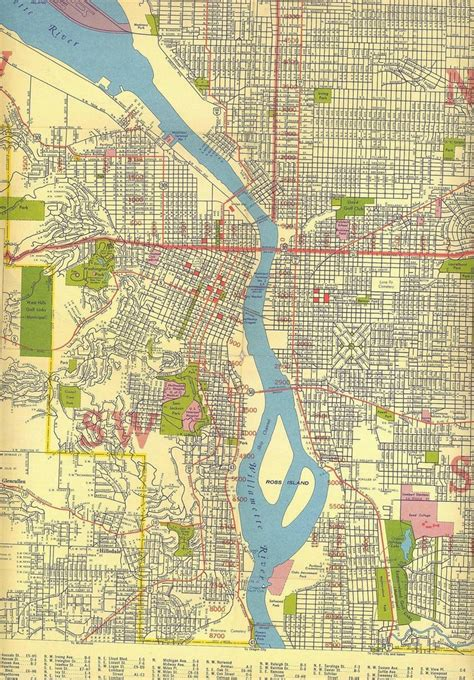 portland on map of oregon map of portland oregon c 1940 portland oregon