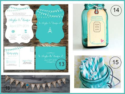 Turquoise Wedding Color Theme   Rustic Wedding Chic