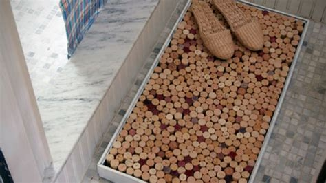 Mat Out by Make A Better Shower Mat Out Of Wine Corks