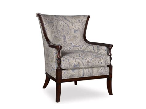 linen accent chair bristol linen transitional carved wood accent chair