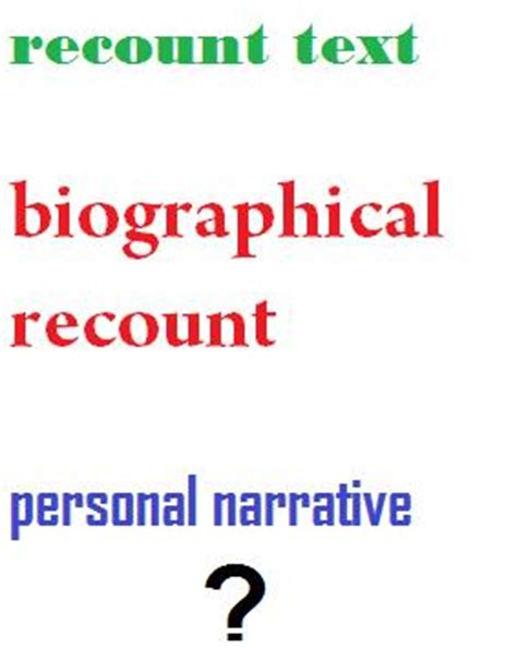 biography text type recount text biographical recount personal narrative