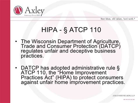 wisconsin home improvement practices act
