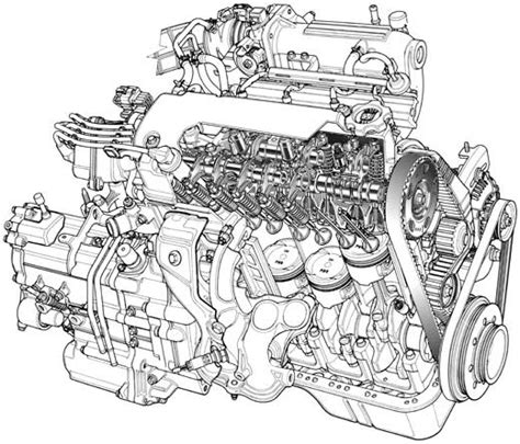vector motor layout 12 car engine vector images cartoon racing engines car