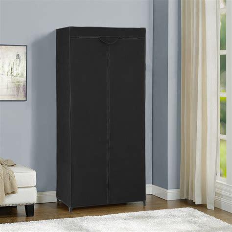 kleiderschrank schwarz holz neu holz 174 kleiderschrank 160x70 schwarz stoff falt schrank