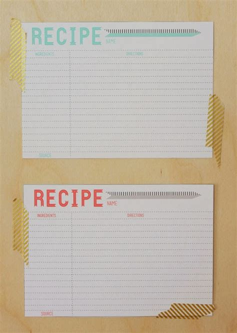 Fillable Recipe Card Template by 9 Best Images Of Free Printable Vintage Recipe Cards 4x6